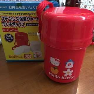 超新 極少用 容量 370ml 日本限定 Made In Japan 2001 珍藏Sanrio Kater Hello Kitty 暖杯 食物暖壺