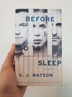 SJ Watson - Before I Go to Sleep