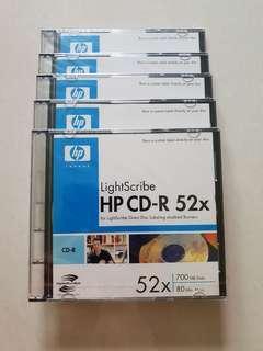 5 x HP CD-R 52x