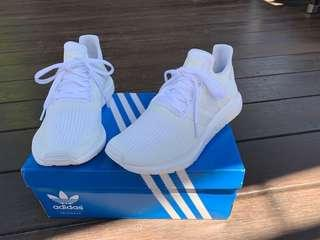 Adidas Swift Sneakers White with Rose Gold - Womens Size 8