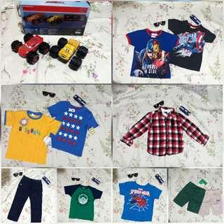 New & Preloved Clothes &Toys for Boys (4-7y)