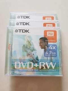 3 x TDK DVD + RW