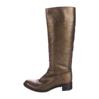 🚚 PRADA Metallic Leather Boots