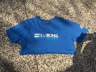 Billabong blue cut off tee crop top