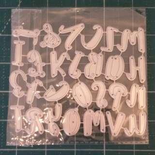 Large Alphabets Cutting Die