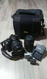 Nikon Digital Camera D5100 (come with lens) + Tripod