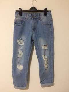 Ripped Boyfriend's Jeans
