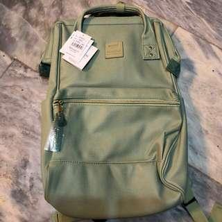 Anello leather backpack (mint green)