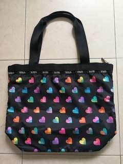 Lesportsac Tote colourful hearts, black shopping bag