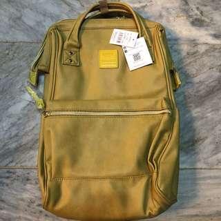 Anello leather backpack (mustard yellow)