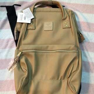 Anello leather backpack (beige)