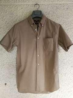 (UNIQLO) Brown Short Sleeve Polo
