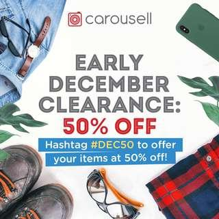 Early December Clearance: 50% Off