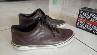 Vans oldskool leather brown original nego