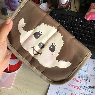 Monchichi travel organizer pouch passport holder
