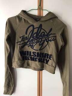 Twopercent army hoodie top