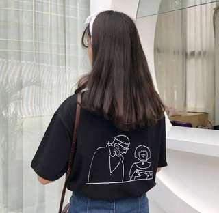 [PO] basic oversized graphic tee