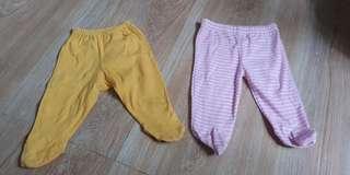 Preloved frogsuit pajamas 3 to 9 mos 70 each