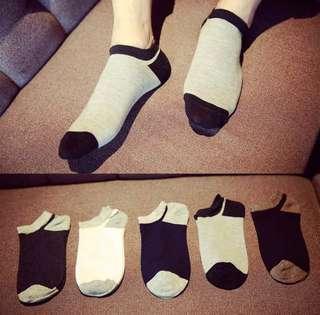 Set of 5 pairs Unisex Ankle Socks