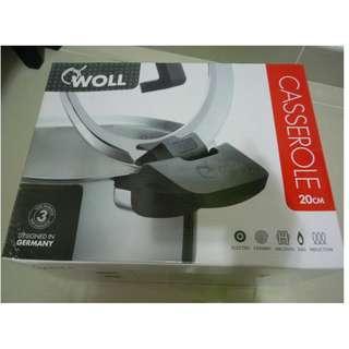 德國名牌 Woll Casserole 不鏽鋼煲 20cm 3公升 雙耳鍋連蓋 可用於電爐 電磁爐 明火煮食煲 湯煲