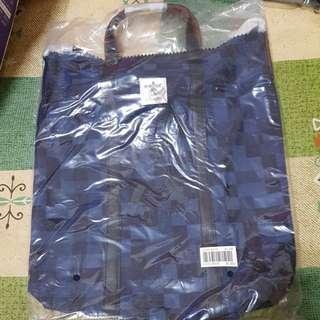 🚚 全新porter藍黑格紋手提側背包(賣場買3000元以上直接送)