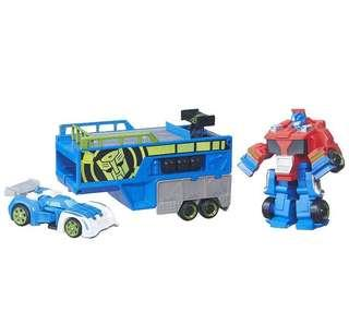 BNIB Playskool Heroes Transformers Rescue Bots Optimus Prime Trailer