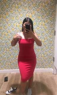 M Boutique Red Tube Dress