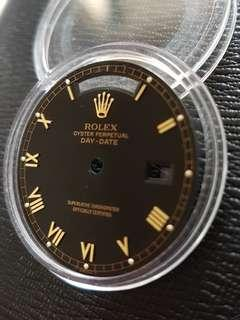 Rolex Day Date President Black Roman Watch Dial 18238 18038