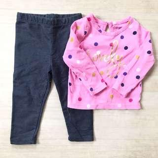 Baby long sleeves and jeggings