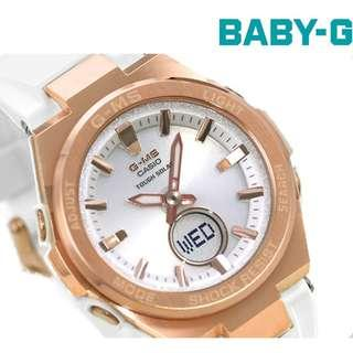 Casio Baby-G G-MS series GSteel Couple Ladies Fashion Watch Rose Gold Finish Tough Solar MSG-S200G-7A MSGS200G MSGS200  MSG-S200G