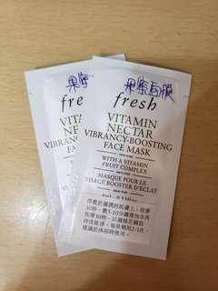 Fresh Vitamin Nectar Vibrancy-Boosting Face Mask 維他果蜜亮活面膜 4ml X 2
