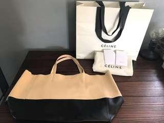 SALE AUTHENTIC CELINE DESIGNER CABAS BI-COLOR TOTE BAG DUSTBAG PAPERBAG
