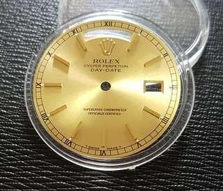 Rolex Day Date President Watch Dial Gold Sun burst 18238 18038  !