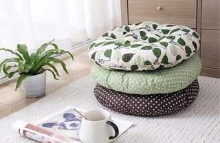 棉麻圓形坐墊 布藝坐墊 榻榻米沙發靠墊 圓凳墊子 加厚椅子墊