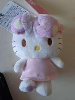 Hello Kitty 公仔 掛飾 大蝴蝶 碎花 粉紅色 聖誕 生日 交換 禮物 #sellfaster
