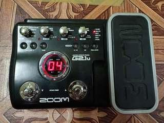 G2.1u Zoom guitar effect pedal