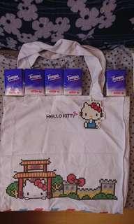 全新2017 Hello Kitty×百老匯電器 白色布質環保袋