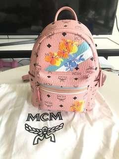 MCM Floral Stripe Backpack