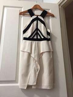 Manning Cartell Peplum Silk Dress- 8