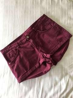 H&M Maroon Shorts #TGV3