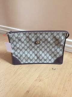 Authentic Classic Gucci Pouch Large