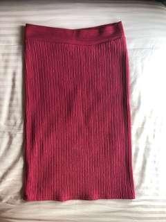Pink below the Knee Skirt