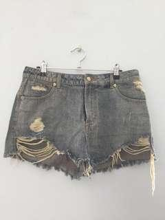 Distressed High Waisted Shortd