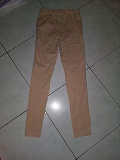 Celana panjang katun cotton pants krem cream beige