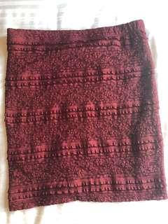 Forever 21 Maroon Lace Skirt