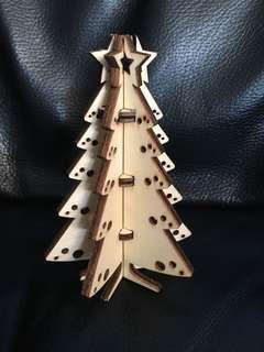 手工 木製聖誕樹