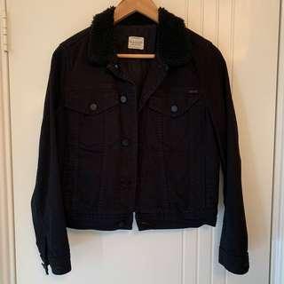 MANGO JEANS Jacket Black