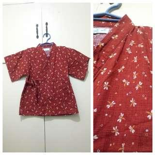 GA110 Japanese Tan Colored Blouse for Girls 4-6 (see pics for Measurements)