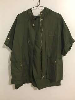 F21 Olive utility jacket