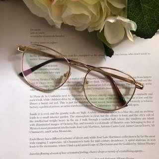 Gold Specs (Replaceable Lens)